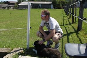 Frans mit Hund